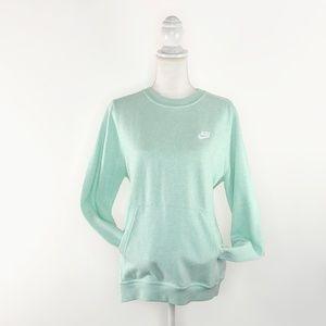 Nike Mint Heather Pullover Fleece Crew Sweater  XL